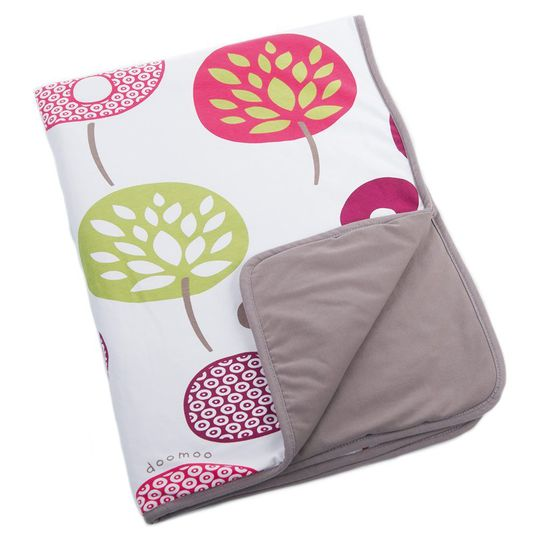 Cotton blanket Doomoo Dream 75 x 100 cm - Tree Berry