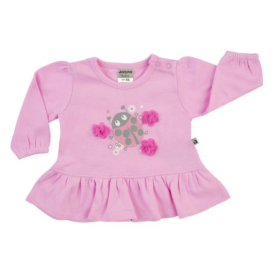 Langarmshirt Little Bug - Rosa - Gr. 56