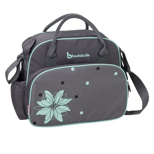 Diaper bag Vintage - Grey Turquoise