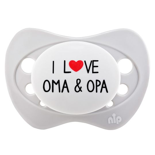 Schnuller Limited Edition 0-6 M - I love Oma & Opa