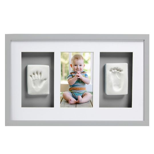 Frame for photo & 2 prints - Deluxe Wall Frame - Grey
