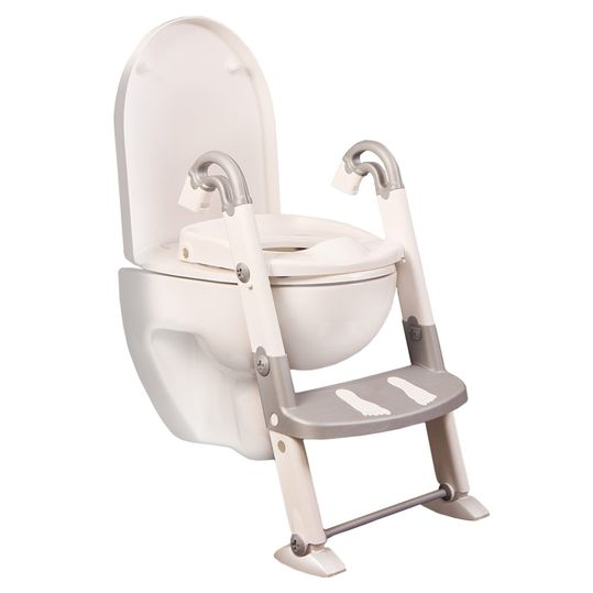 Toilet trainer 3 in 1 - silver grey white