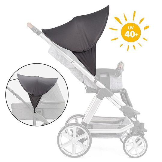 Universal sunroof for prams and buggies - dark grey
