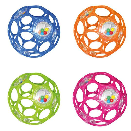 Play and grab ball with rattle 10 cm - different designs