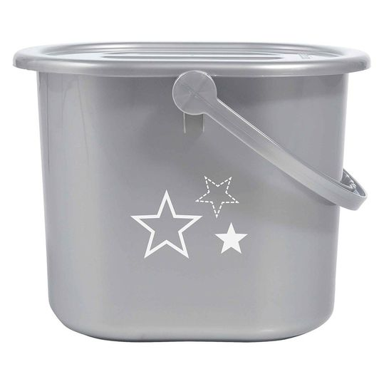 Nappy Bucket - Silver Stars