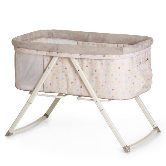 Additional bed Dreamer (foldable incl. mattress) - Multi Dots Sand