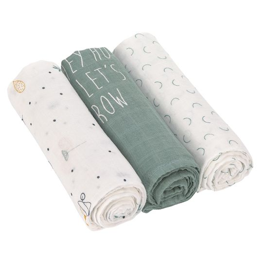 Mulltuch 3er Pack Heavenly Soft Swaddle L - Bambus 80 x 80 cm - Garden Explorer Boys