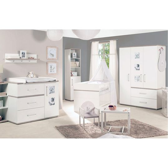 Nursery Moritz Baby with 3-door wardrobe, bed, wide changing unit