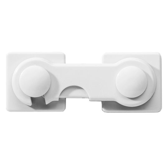 Cabinet safety device for gluing on - White