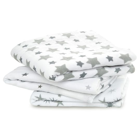 Gauze diaper pack of 3 Classic Musy 70 x 70 cm - Twinkle