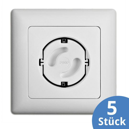 Socket protection 5er Pack - White