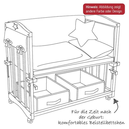 Roba Cot 3 In 1 Incl Accessories Babysitter White Little Stars Babyartikel De
