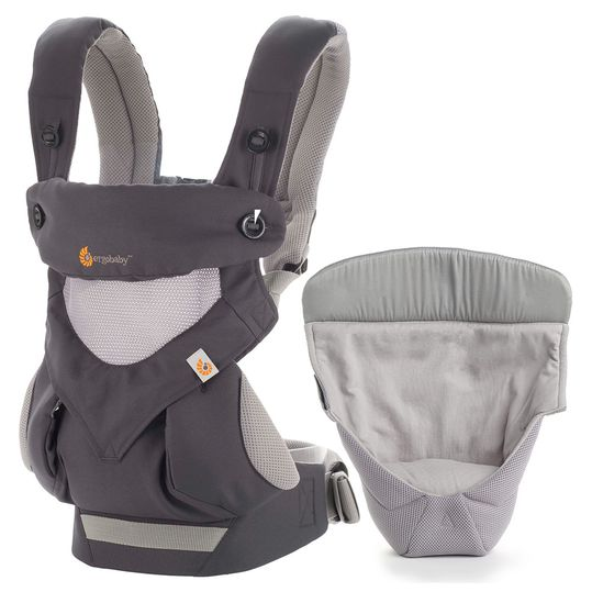 Baby Carry Set 360° Cool Air Mesh Package from birth - Carbon Grey