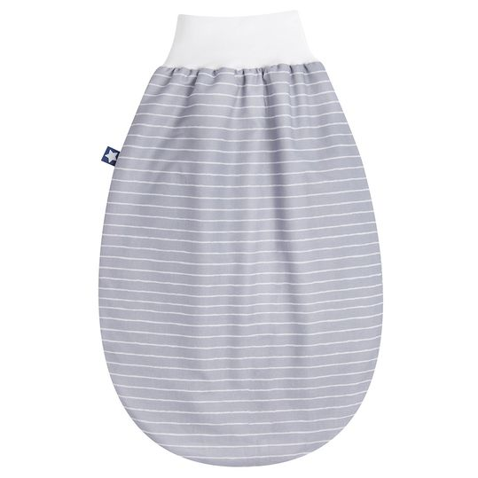 Strampelsack Jersey - Grey Stripes - Gr. 50 cm