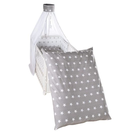 Bed Linen Set - Little Stars - Grey
