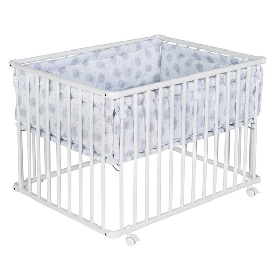 Playpen Basic White incl. insert 75 x 100 cm - Sheep - Grey