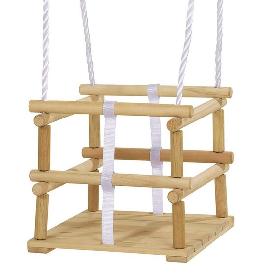 Outdoor lattice swing made of wood - Nature