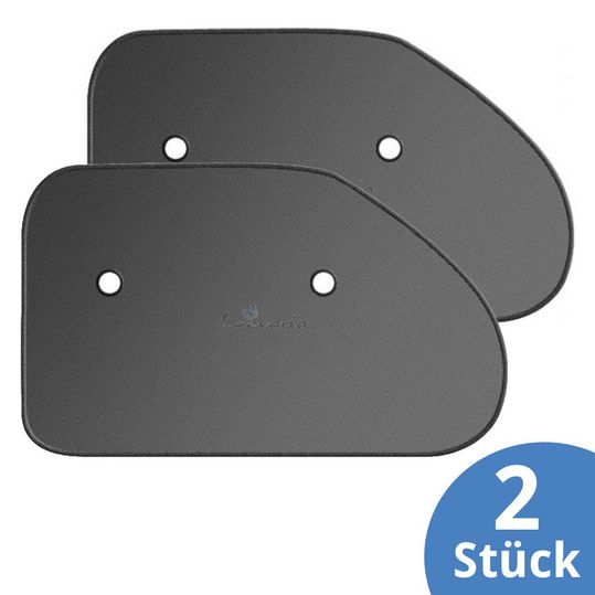 Sun protection for triangular discs 2 pack - black