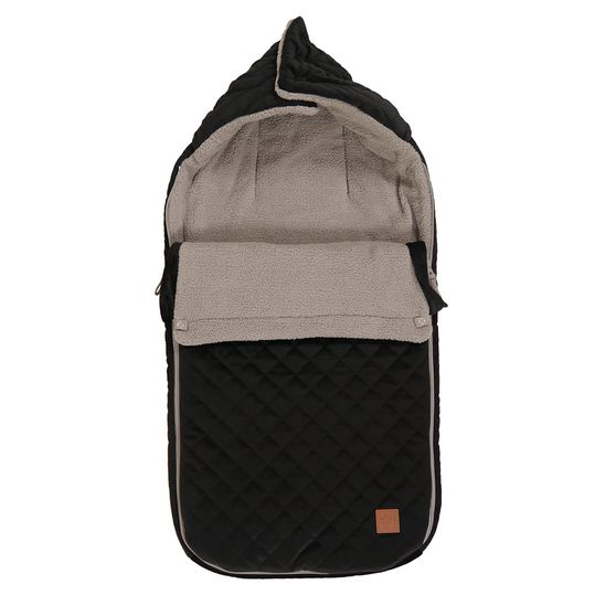 Fleece-Fußsack Velvet Kiki - Black Light Grey