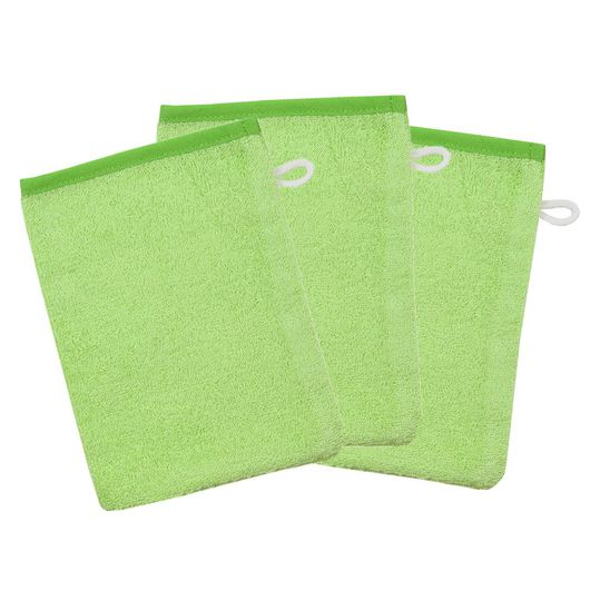 Waschhandschuh 3er Pack - Uni Limone