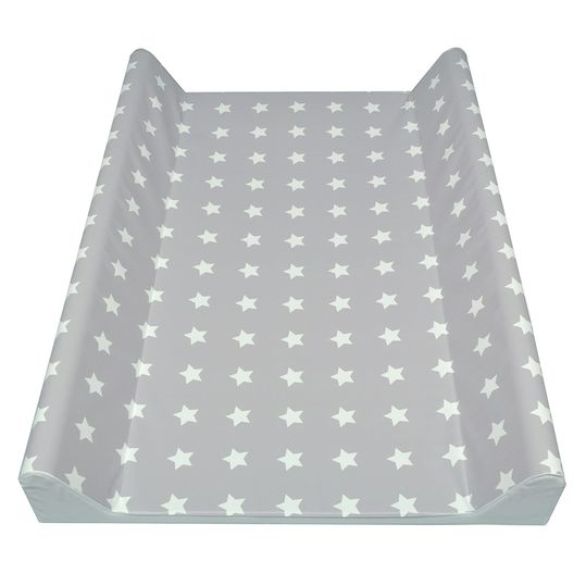 Soft Foil Changing Tray - Stars - Grey-White
