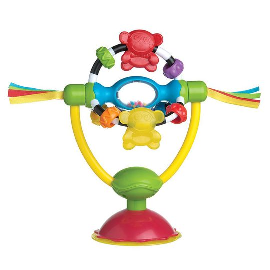 Highchair toy with suction foot - Rotating rattle