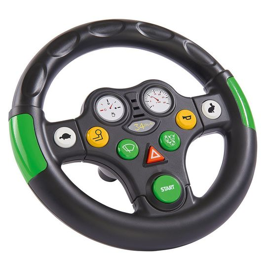 Steering Wheel Sound Wheel for BIG Tractor and Bobby Car - Black Green
