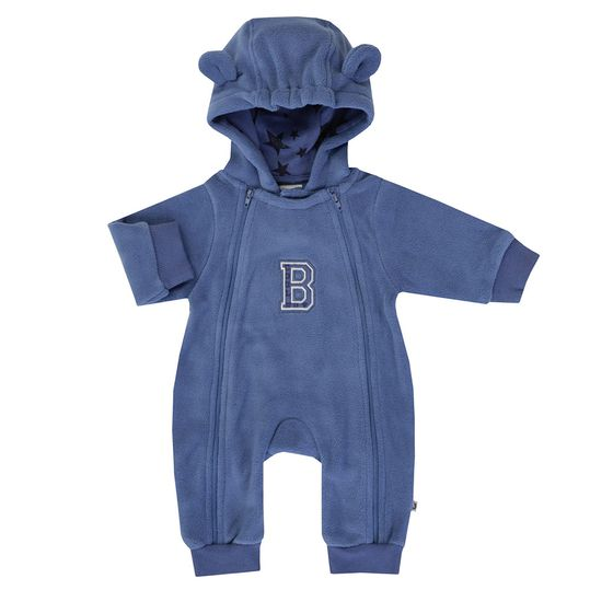 Fleece-Overall mit Kapuze Cool Boy - Blau - Gr. 56