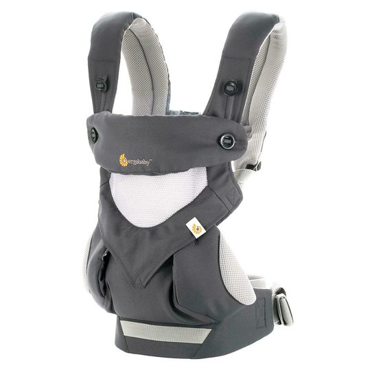 Baby carrier 360° Cool Air Mesh for 4 carrying positions - Carbon Grey