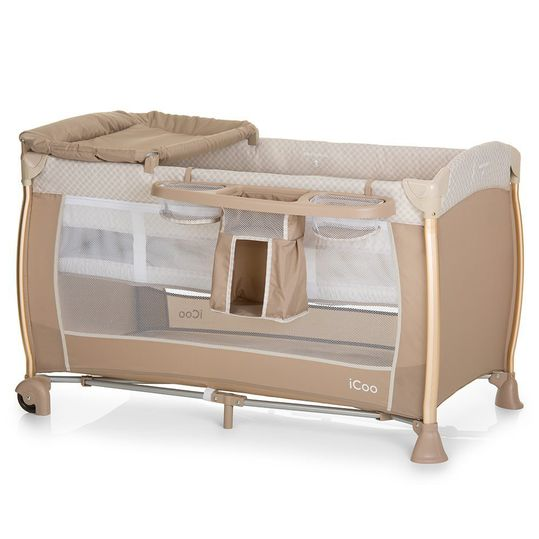 Starlight travel cot (incl. 2nd level, changing mat, care box) - Diamond Beige