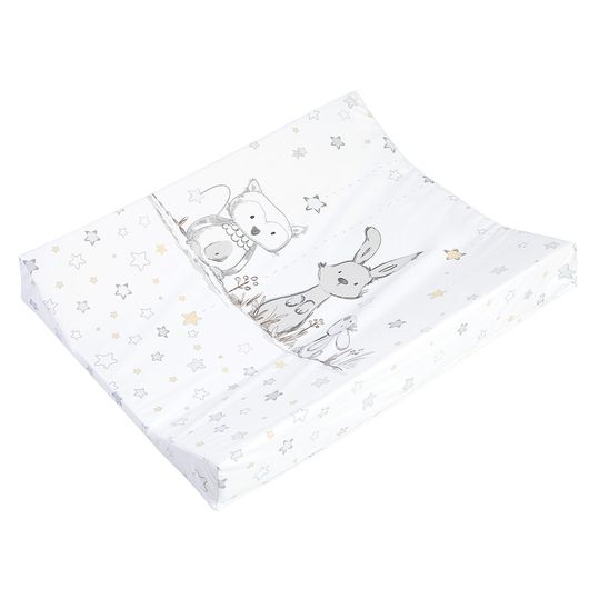 Changing tray foil 2-wedge - bunny and owl - white