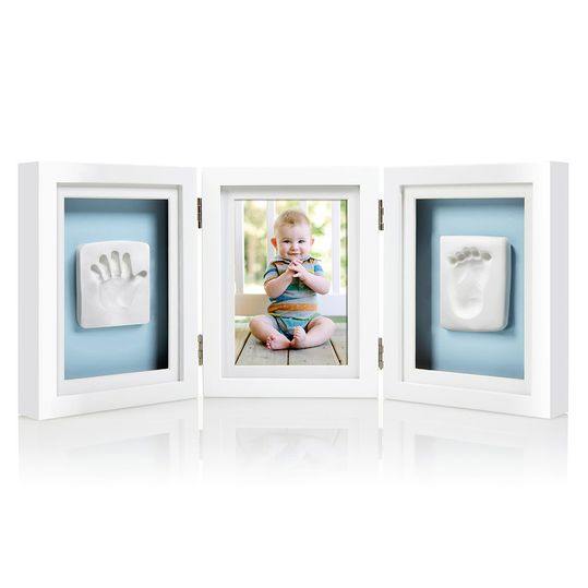 Frame for photo & 2 prints - Desk Frame - White