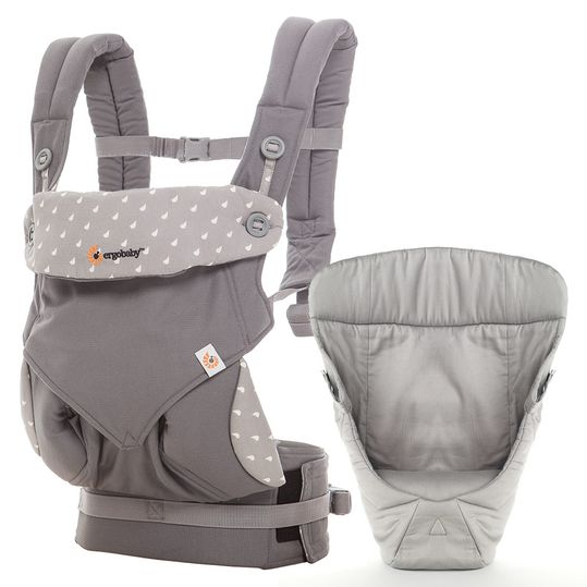 Baby carrier set 360° package from birth - Dewy Grey