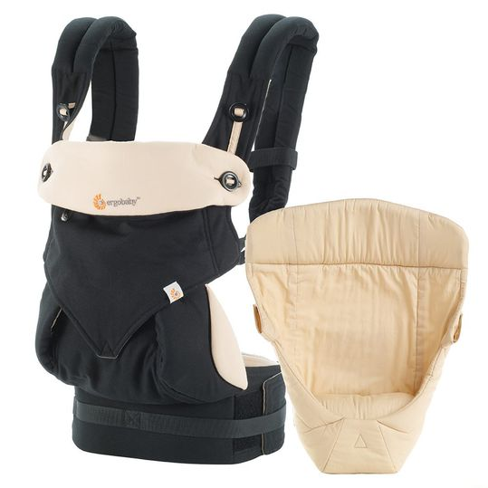 Baby carrier set 360° package from birth - Black Camel