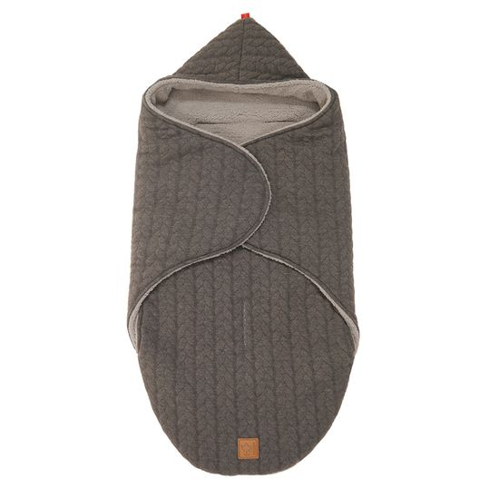 Wrappy folding blanket - Knit Design - Anthracite