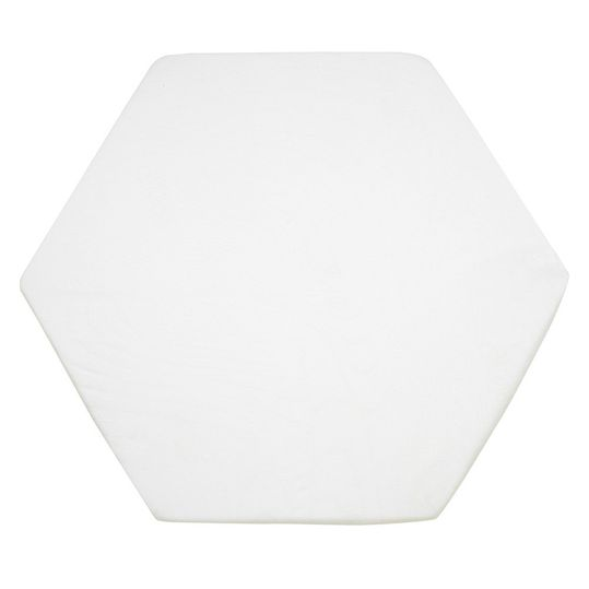 fitted sheet for 6- and 8-sided playpen mattresses 115 cm - white