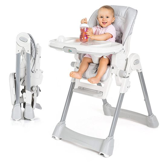 High chair Aron - dots - grey