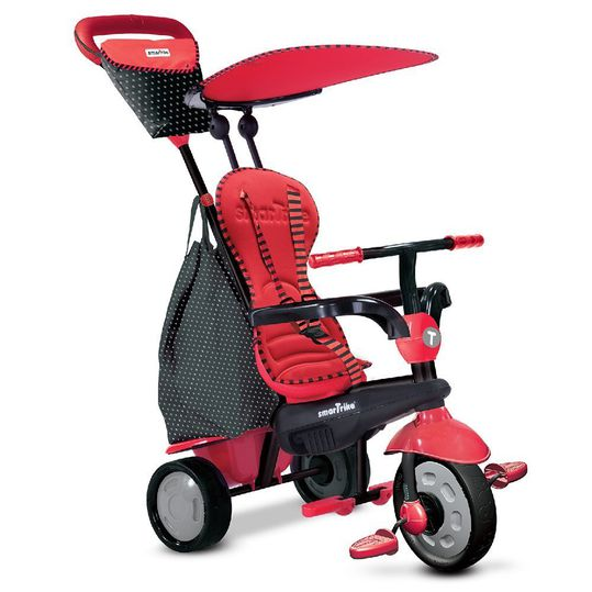 Tricycle Glow 4 in 1 with Touch Steering - Red