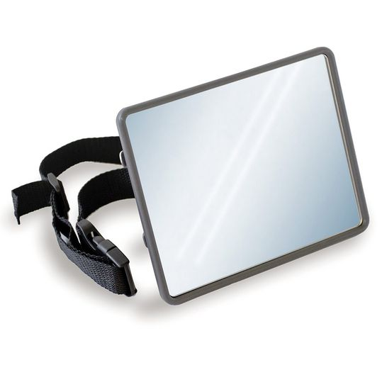 Car safety mirror for baby car seat and reboarder