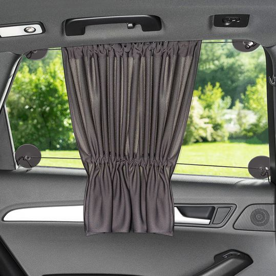 Universal sun protection for your car with curtain function & UV protection - Anthracite