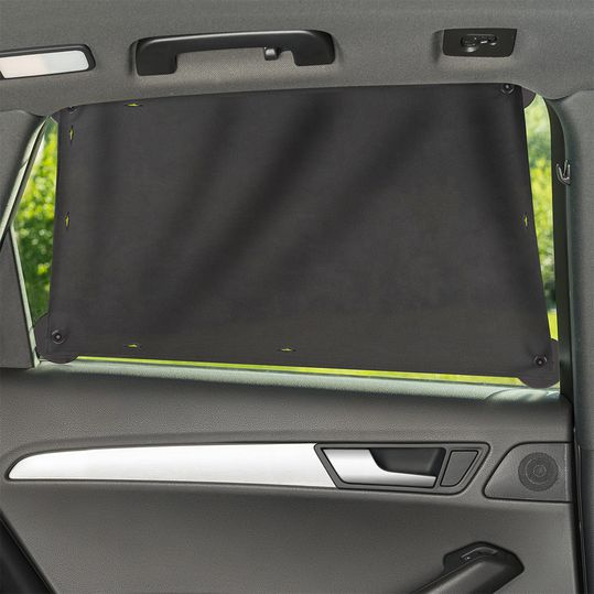 Universal sun protection cloth for car side windows - dark grey