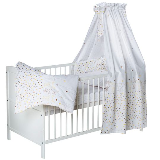 Complete Bed Conny Pine Solid White 70 x 140 - Teddy Star - White