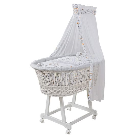 Complete bassinet white - pair of owls