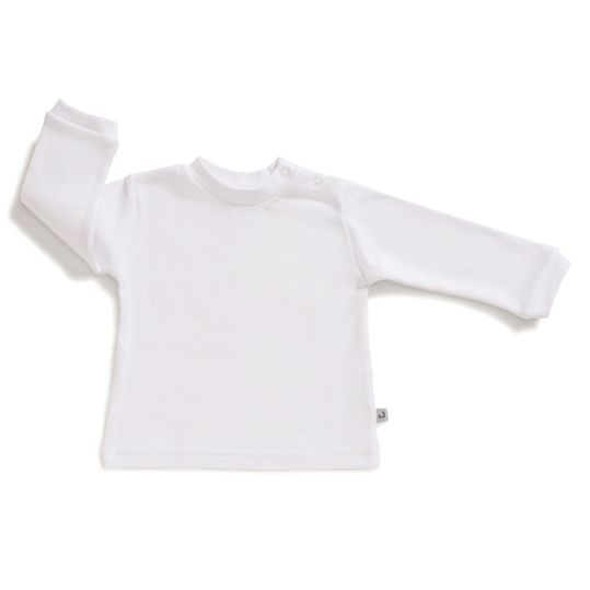 Long sleeve shirt - plain white - size 56