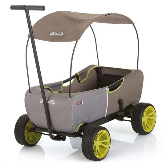 Handcart Eco Mobil - foldable with roof, trolley & handcart for 2 children
