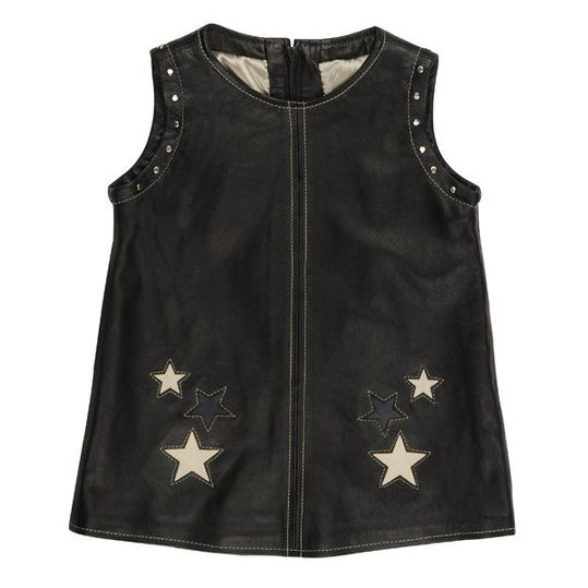 Lederkleid Rock Star Girls - Schwarz - Gr. XL