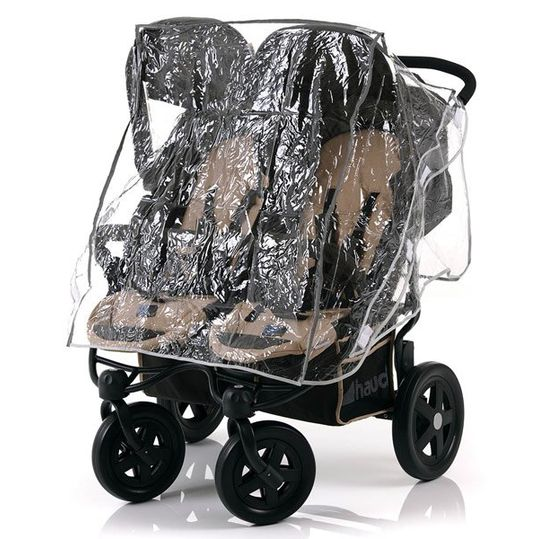 Rain protection for sibling carriages