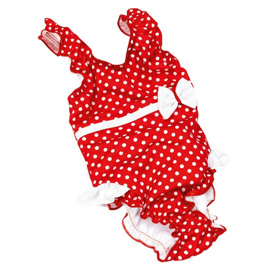 Swimsuit with nappy pants - dot red white - Gr. 86/92