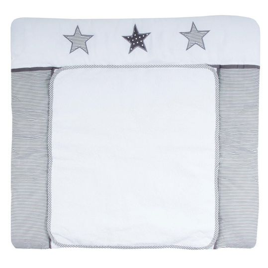 Wrap-around pad with terry cloth cover - Star Grey