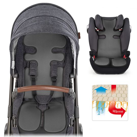 Universal summer seat cover for pram, buggy, car seat and baby car seat